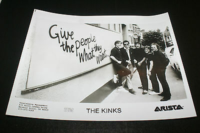 THE KINKS Press Photo Give The People What They Want 1981 Original Arista  MINT