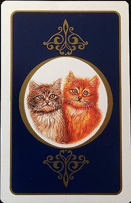 "VINTAGE SWAP/PLAYING CARD x 1 ""CATS"" C. 1960's."