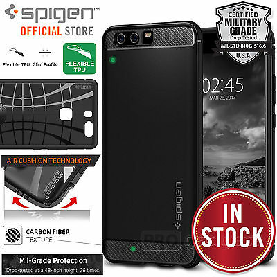 Huawei P10 Plus Case, Genuine SPIGEN Rugged Armor Resilient Soft Cover Huawei