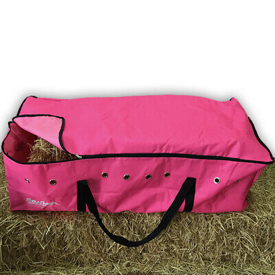 PINK HAY BALE BAG Carry Storage Water Ski Feed Board Camping Horse Riding Gear