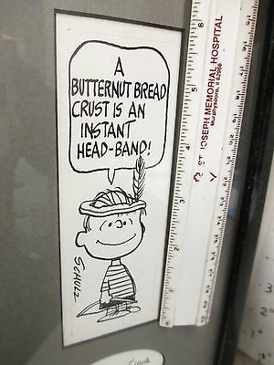 Charles Schulz comic strip original art Peanuts LINUS 1960s Butternut Bread ad
