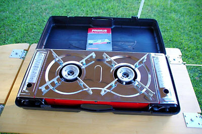NEW PRIMUS 2 BURNER BUTANE STOVE CAMPING OUTDOOR STOVES 640 x 280 x115 mm
