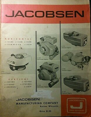 Jacobsen Snow Thrower Mower Engine 2-CYCLE Manual Service & Parts 50pg J-125 321