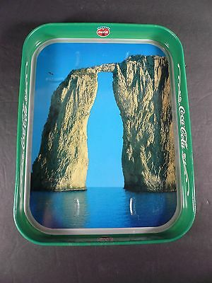 """Vintage Coca Cola Tray Cliff with Bottle Cutout Tray Made in Italy 10¾"""" x 8¼"""""""