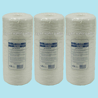 "3 X 10"" Jumbo Wound Particle Filter 100 Micron Water, Vegetable Oil, Biodiesel"