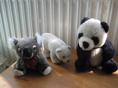 3 bears. Oz Mate BNWT Australian Koala Bear, Plush Panda & Foxes polar bear