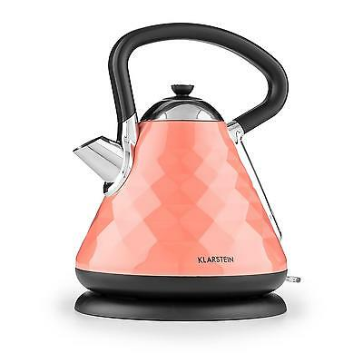 Klarstein Curacao Coral Kettle Fast Boil 2200W 1.7l Stainless Steel Coral