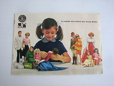 Catalogue ancien Barbie Ken Midge Francie Tutti 1966 - vintage doll catalog