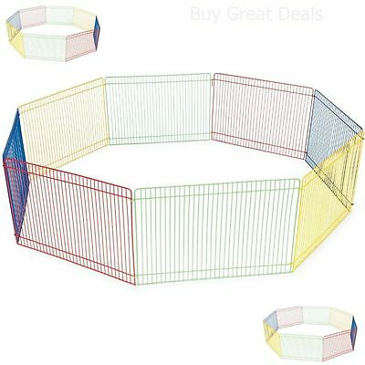 Small Pet Playpen Indoor Outdoor Dog Cat Exercise Portable Cage Kennel Fence NEW