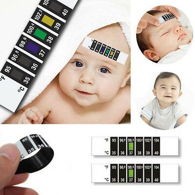 Fine Baby Kids Forehead Strip Head Thermometer Fever Body Temperature Test