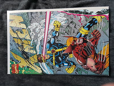 Marvel Comic X-men 1991 #1 Signed by Jim Lee & Chris Claremont Rare! First Print