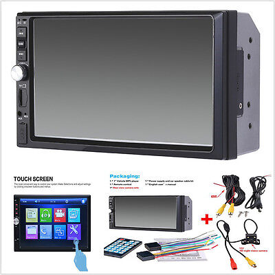 7'' Touch Screen Car Radio Audio Stereo MP5 Player 2Din USB FM Bluetooth+Camera