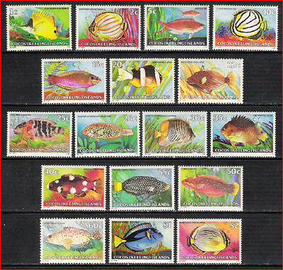 Cocos (Keeling) Islands 1979 Fishes set of 17   MNH