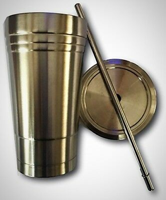 20 Oz Vacuum Double Wall Stainless Steel Tumbler Insulation Travel Cup Mug Straw