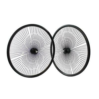 Pair wheel 28 bike polo 144 spokes single speed fixed cruiser black AMBROSIO Bic