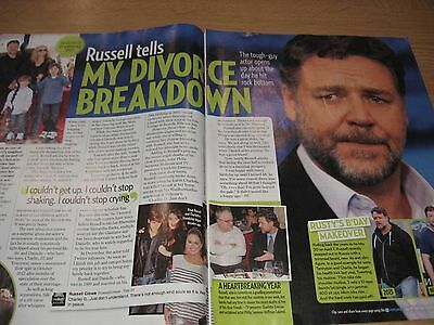RUSSELL CROWE - Magazine Clipping - Danielle Spencer