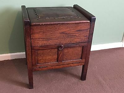 Large Antique Piano / Pianola / Organ Stool with Storage Compartments