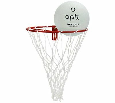 Opti Netball Ring & Ball Steel Netball Ringing Can Be Mounted On The Wall Set_UK