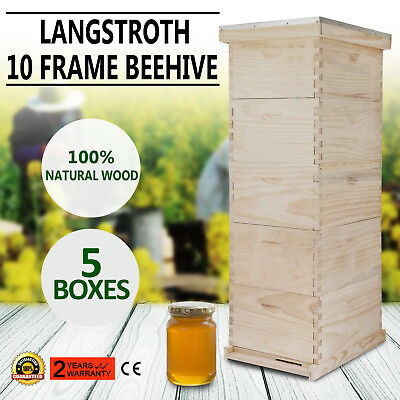 Langstroth Bee Hive 10 Frame 3 Medium 2Deep Box Includes all Frames Foundations