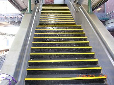 Anti Slip Stair Nosing - Yellow Fibreglass 70mm/30mm x 120cm