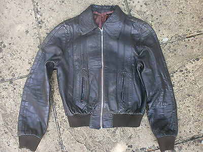 authentic 1970s leather bomber jacket vintage