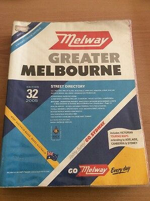 Melway Greater Melbourne Directory Edition 32 2005 with plastic cover
