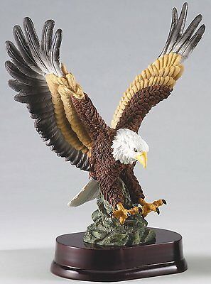 "Beautiful 12"" Hand-Painted Resin Eagle Eagle Statue American Eagle"