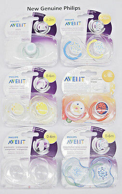 New Philips Avent Orthodontics Pacifiers For Babies 0-2m 0-6m 6-18m