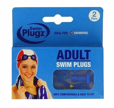 Swim Plugz Adult Swimming Plugs with Cord 1 2 3 6 12 Packs