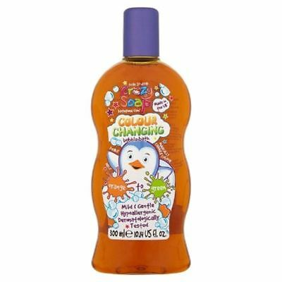 Kids Stuff Colour Changing Bubble Bath Orange Green 300ml 1 2 3 6 12 Packs