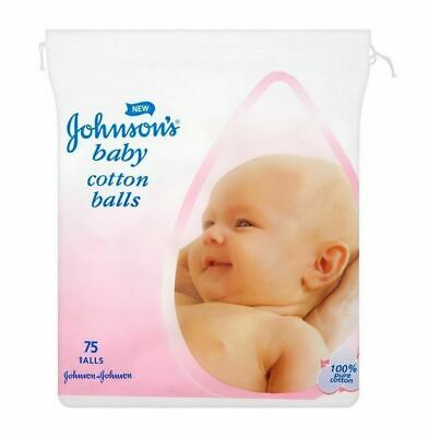 Johnson's Baby Cotton Balls 75 Balls 1 2 3 6 12 Packs