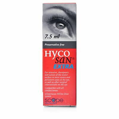 Hycosan Extra Eye Drops | Preservative Free 7.5ml 1 2 3 6 12 Packs