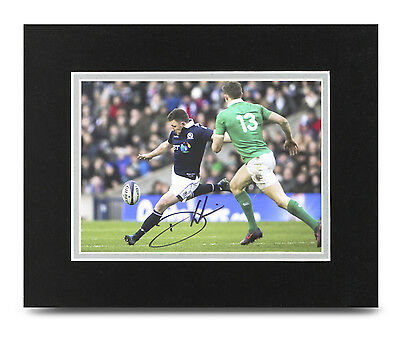 Duncan Weir Signed 10x8 Photo Display Scotland Rugby Memorabilia Autograph + COA