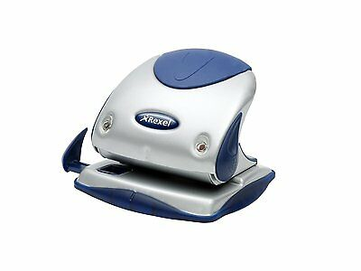 Rexel Precision P225 2 Hole Punch Silver/Blue 25 Sheet Capacity and Paper