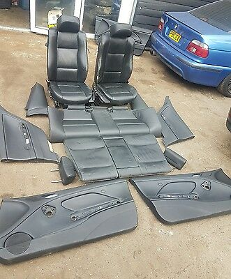 Bmw E46 Coupe Full Black Leather Interior Seats And Door Cards