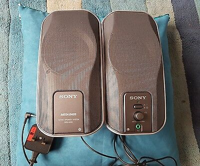 SONY SRS A-205 MEGABASS Active Speaker System, PC MP3, 3.5mm, phone