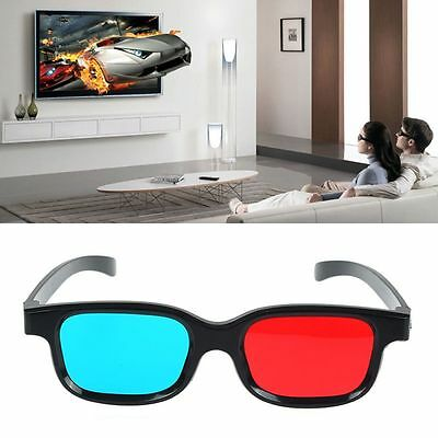 Game DVD Stereo Black Frame Anaglyph Movie Dimensional Red Blue 3D Glasses