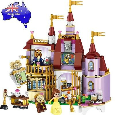 Beauty and The Beast Castle Building Blocks Girls Educational Lego Toy Gift