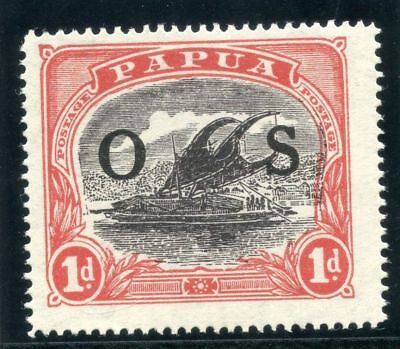"Papua 1931 ""Lakatoi"" Official 1d grey-black & red MLH. SG O56."