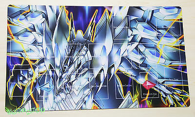 F1806# Free Mat Bag Blue-Eyes Chaos MAX Dragon Yugioh TCG Custom Playmat Layout