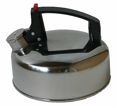 New Yellowstone Camping Stove Whistling Kettle Hob Gas Stainless Steel 2 Litre