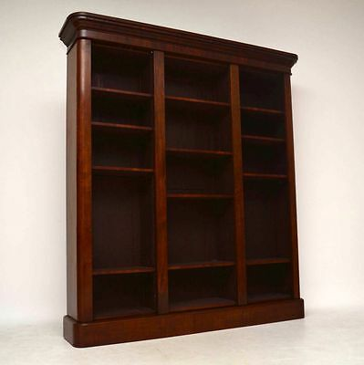 Antique Victorian Re-Constructed Mahogany Open Bookcase