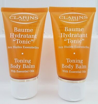 CLARINS Toning Body Balm with essential oils 2 X 50ml NEW