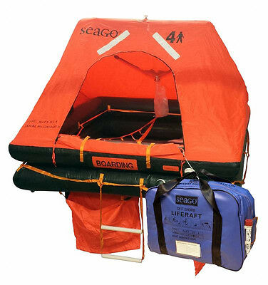 Seago 4-man offshore life raft (valise)