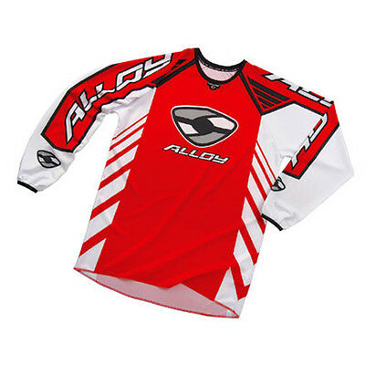 YOUTH KIDS ALLOY MX MOTOCROSS JERSEY SHIRT 04 REACTOR RED / WHITE / BLACK top