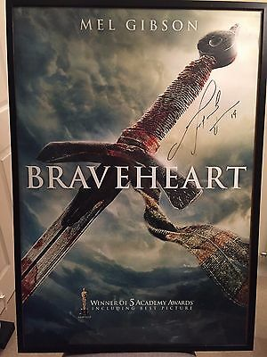 Braveheart - MEL GIBSON - Hand Signed Poster Certified Autograph NOT PRE-PRINT