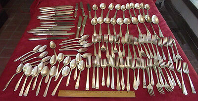 LOT Silverplate Flatware Tableware 108 Pieces Forks, Spoons, Knives Silver
