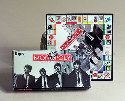 Dollhouse Miniature 1:12 scale  Beatles Monopoly Game Dollhouse Beatles game toy