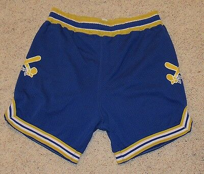 VTG 70s/80s Basketball TOMAHAWK WARRIORS Blue Gym shorts UNION MADE USA Men's L
