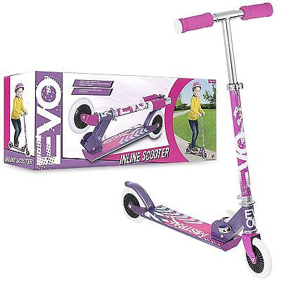 Girl Evo  2 Wheel Foldable Inline Push Scooter Girls Outdoor Park